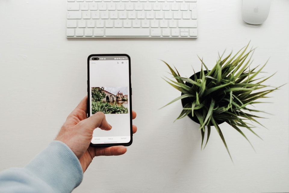 Mobile Phone and a plant pot