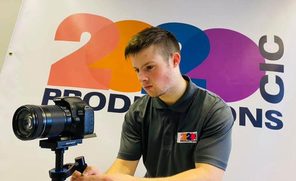 Gordon Parsonage looking at a camera
