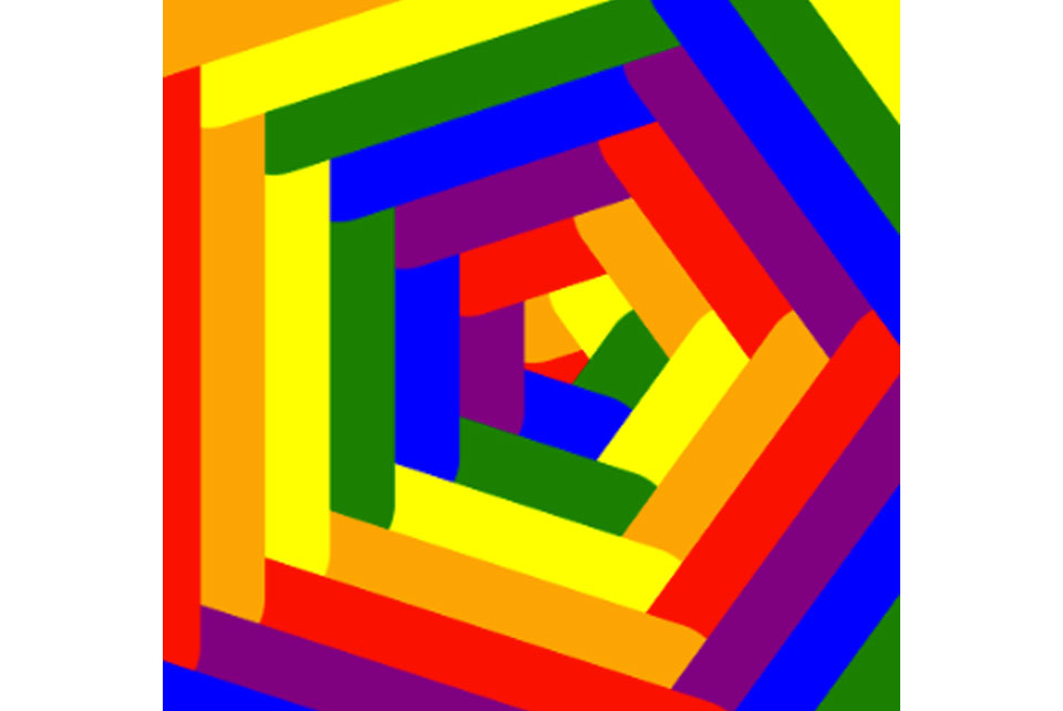 coloured pantagonal visual puzzle