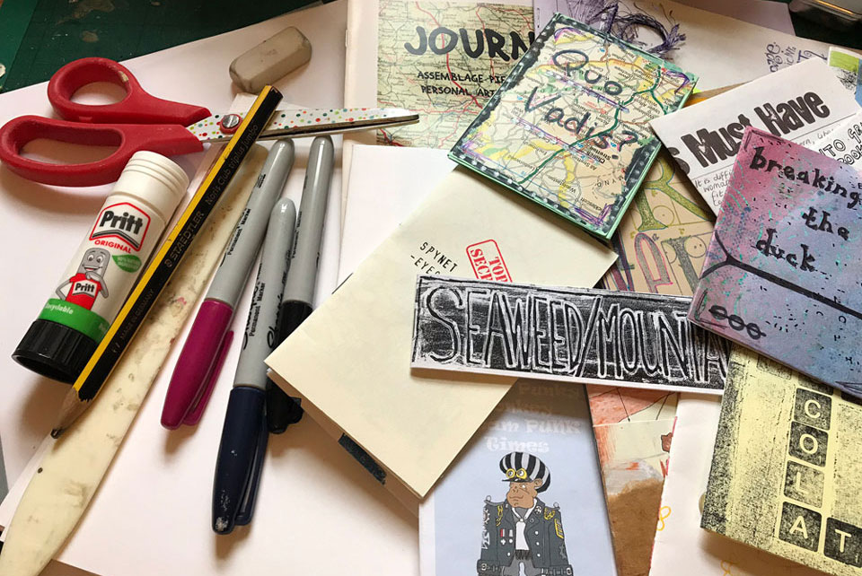 stationery and paper to make zines