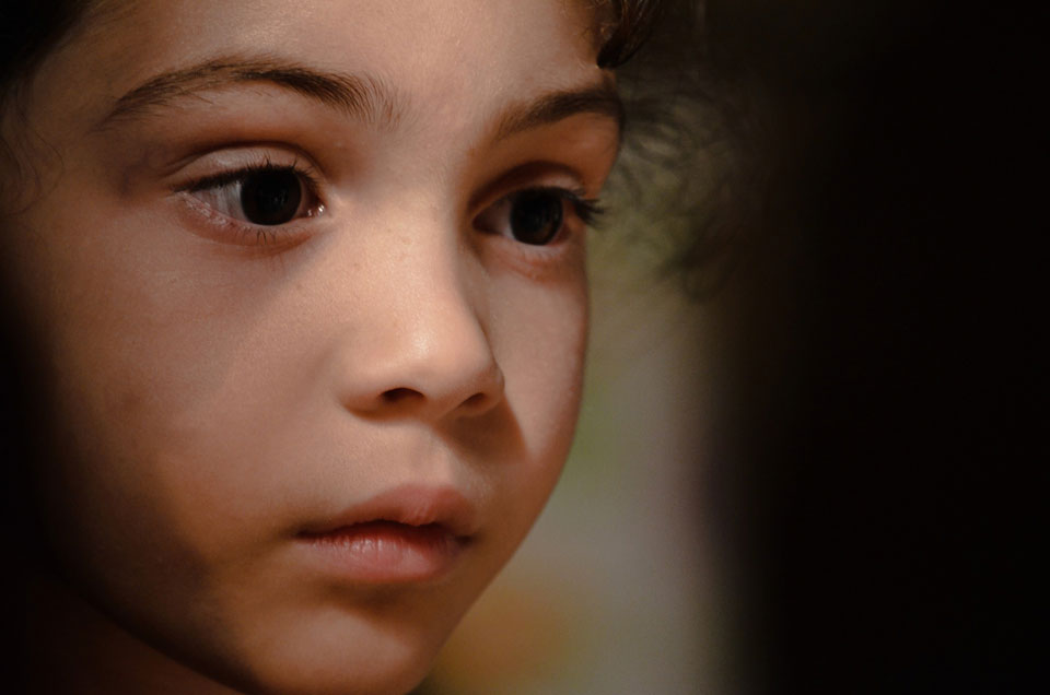 Child looking pensive