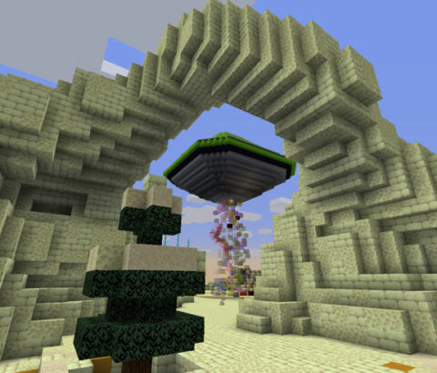 UFO and Arch in Minecraft